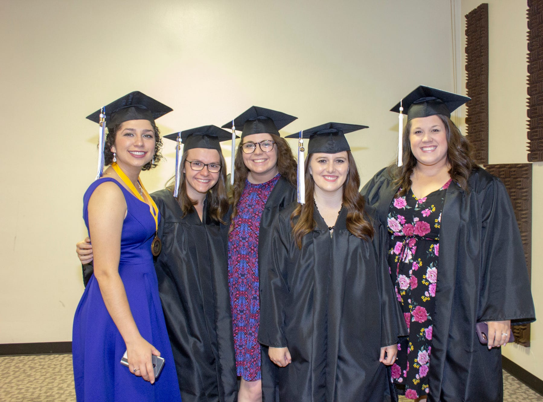 Mars Hill University held spring graduation May 11, 2019, with 161 students received bachelor's degrees, three graduates receiving Master of Education degrees and three receiving Master of Management degrees.