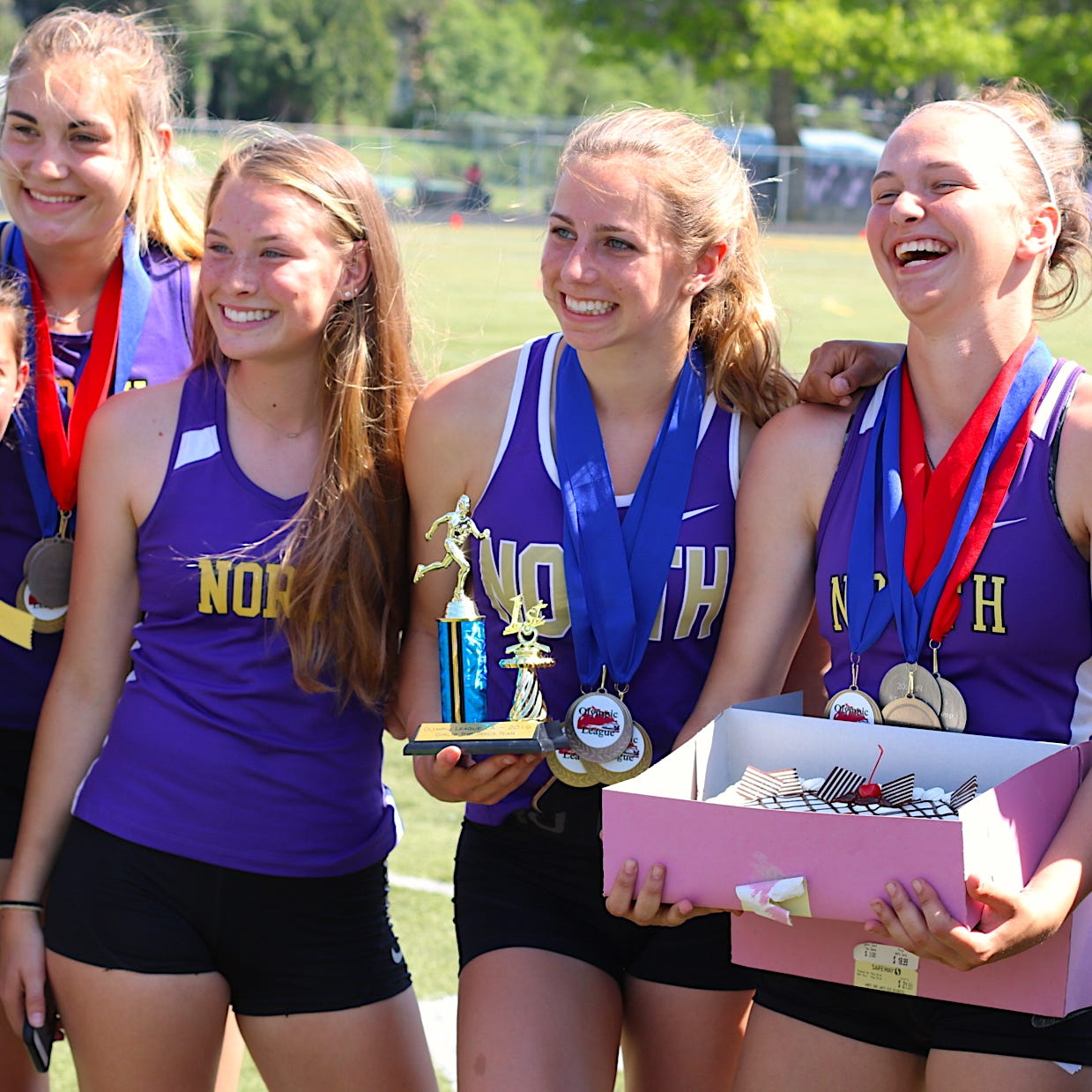 Happy day for North Kitsap at Olympic League track and field championships