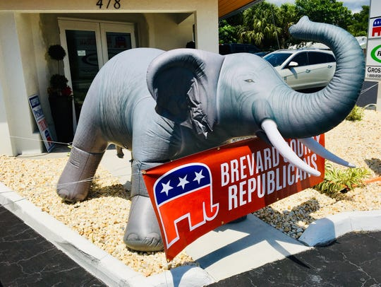 This blow-up elephant greeted visitors to the opening of the new Brevard County Republican headquarters at 478 N. Babcock St. in Melbourne.