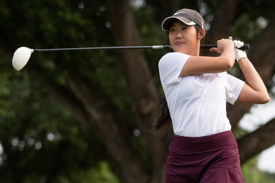 Tuloso Midway's Jennifer Xac during practice at the River Hills Country Club.