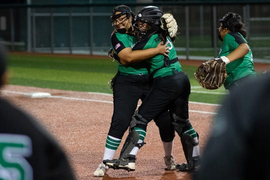 Banquete defeats Bishop 3-1 in the Class 3A regional quarterfinals at Cabaniss Softball Field on Friday, May 10, 2019.