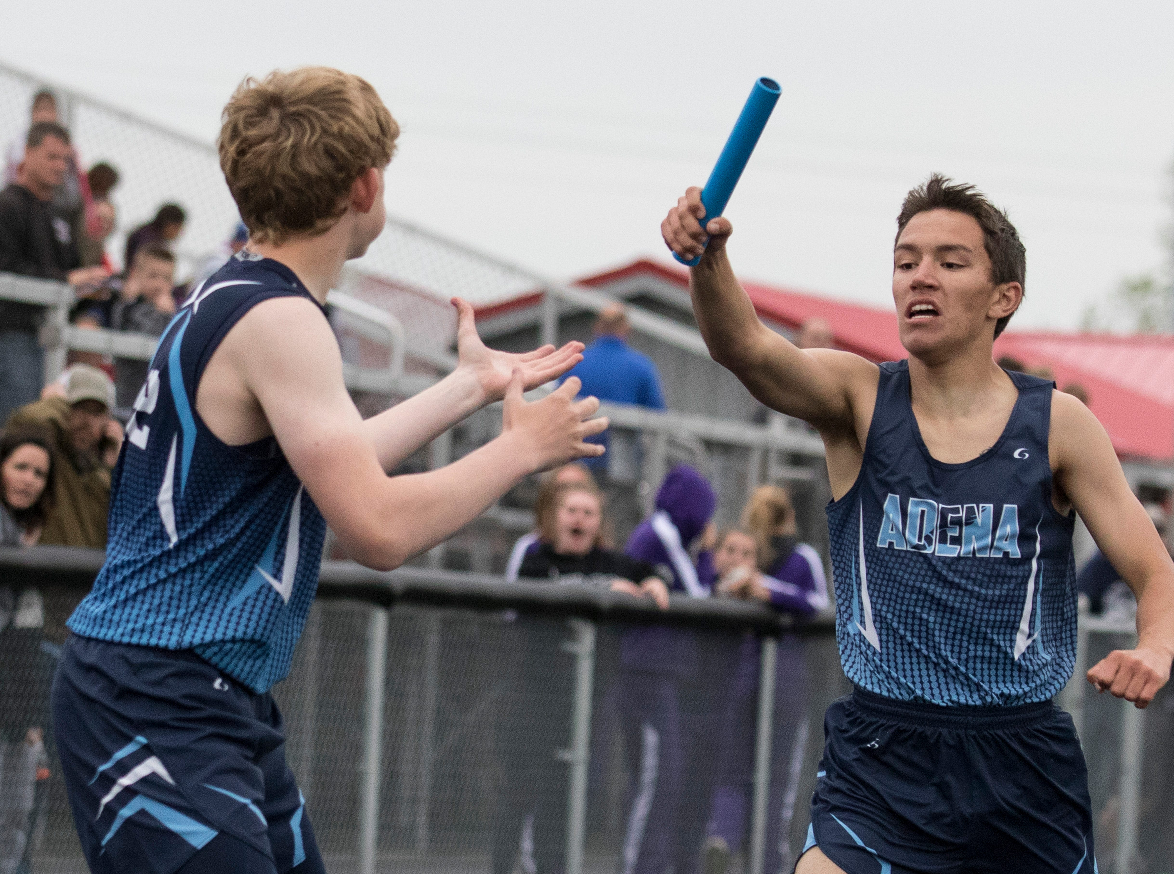 The Unioto boys and girls teams  took first place at the 2019 SVC track and field championships.