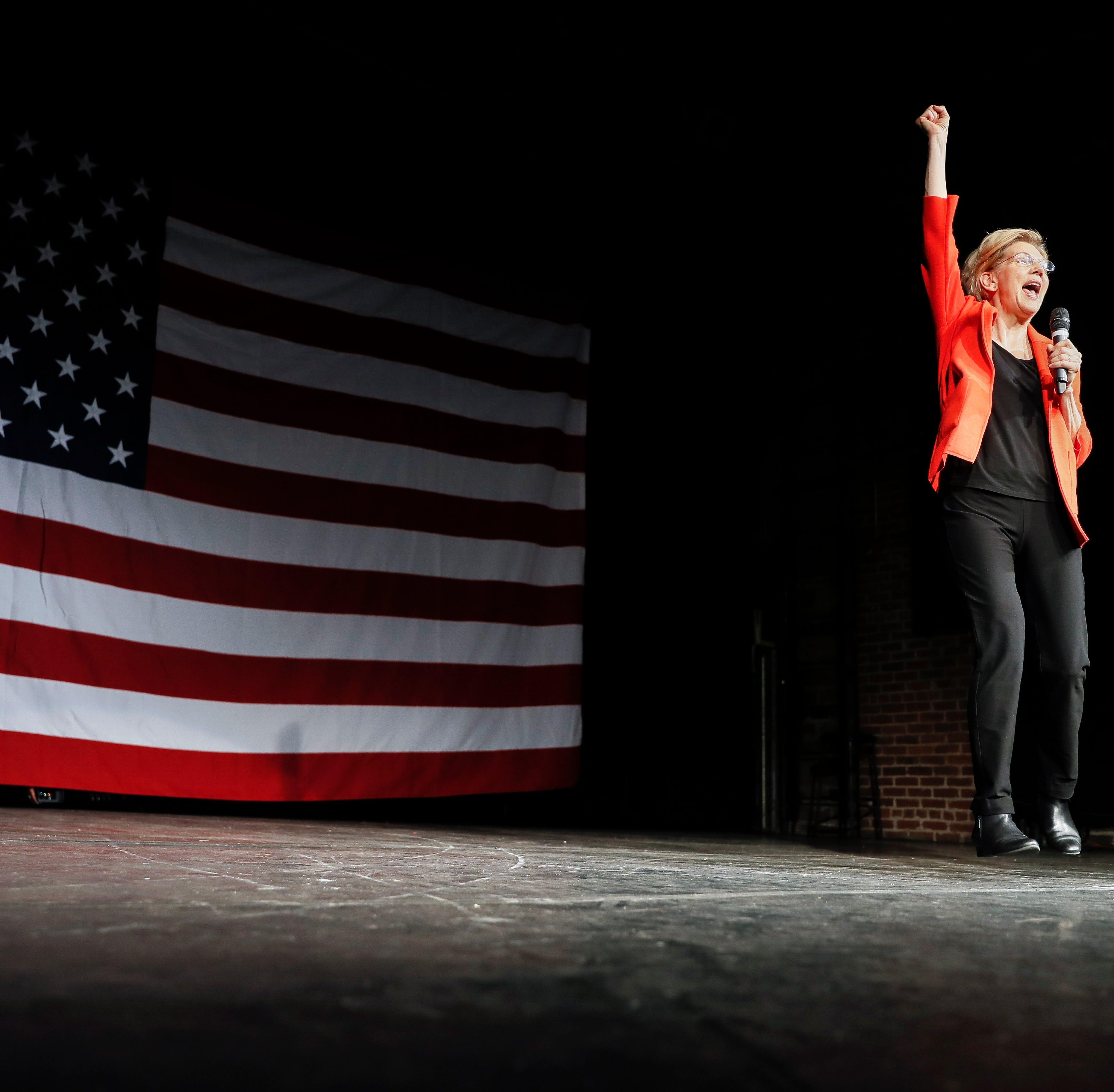 Elizabeth Warren visits Cincinnati to convince people she can beat Trump