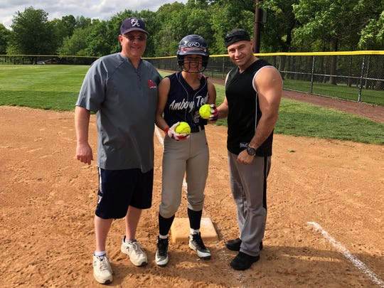 Perth Amboy's Daisy Arocho recorded her 125th career hit and set a new school record on Friday, May 10, 2019.