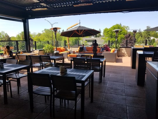 Sedona Taphouse's rooftop area at its Troy location.