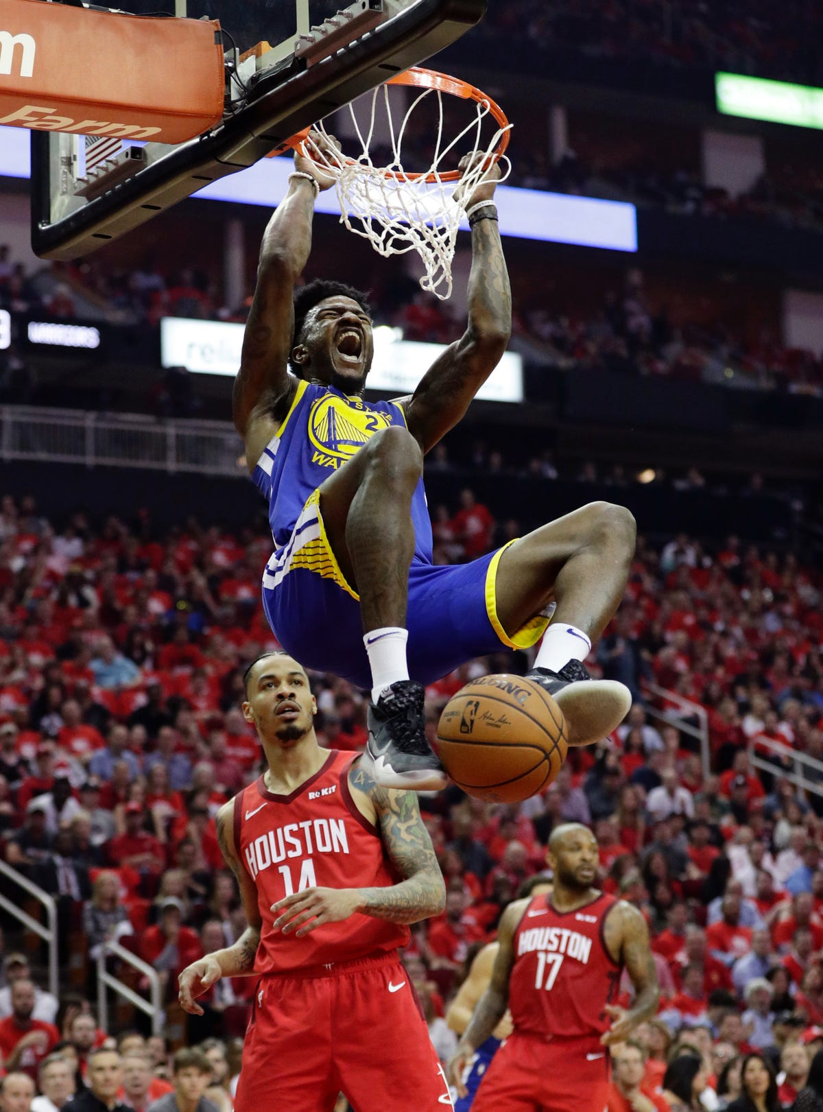 447a5f7fc658 Friday s NBA playoffs  Durant-less Warriors knock out Rockets