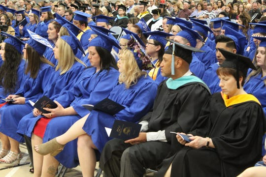 Terra State Community College held its 50th commencement ceremony Friday at the college's Student Activities Center. Kitty Brindal, President and Program Architect for Corporate Compass Training, LLC, delivered the college's commencement address.