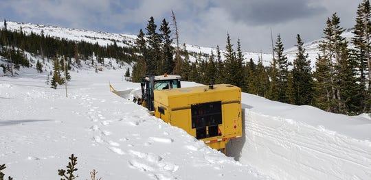 Crews worked to open Trail Ridge Road near Upper Hidden Valley Park this week.