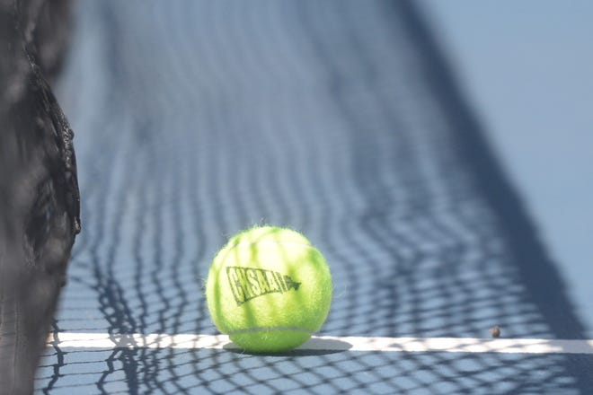 The Fossil Ridge tennis team plays at Rocky Mountain on Wednesday.