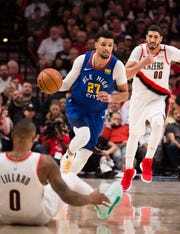 The Denver Nuggets host Portland in Game 7 at 1:30 p.m. Sunday.