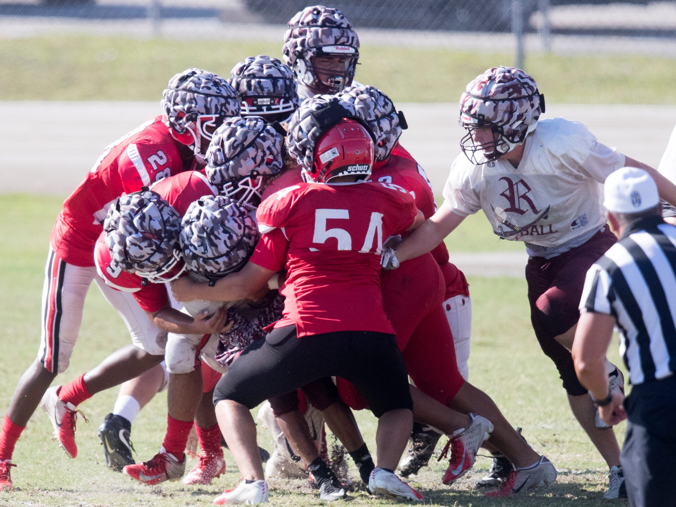 North Fort Myers High School joined Riverdale, Dunbar and Venice in a joint scrimmage on Saturday at North Fort Myers High School.