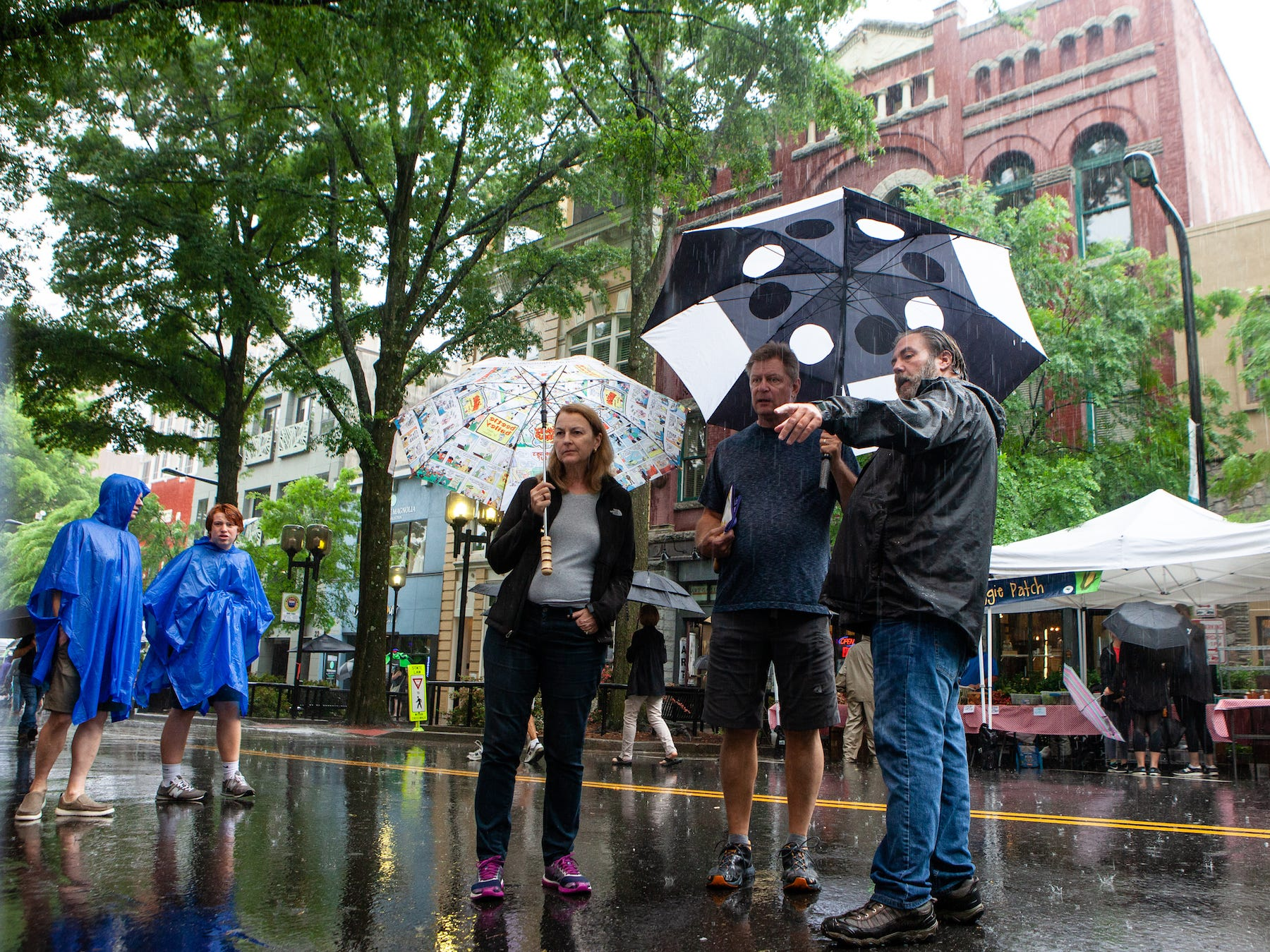 Despite the rainy weather people came to enjoy the art, crafts, shows and more at Artisphere in Greenville on Saturday, May 11, 2019.