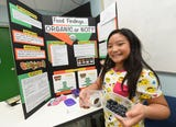 Students participating in the 41st Annual Island Wide Science Fair say their project titles at UOG on May 11, 2019.