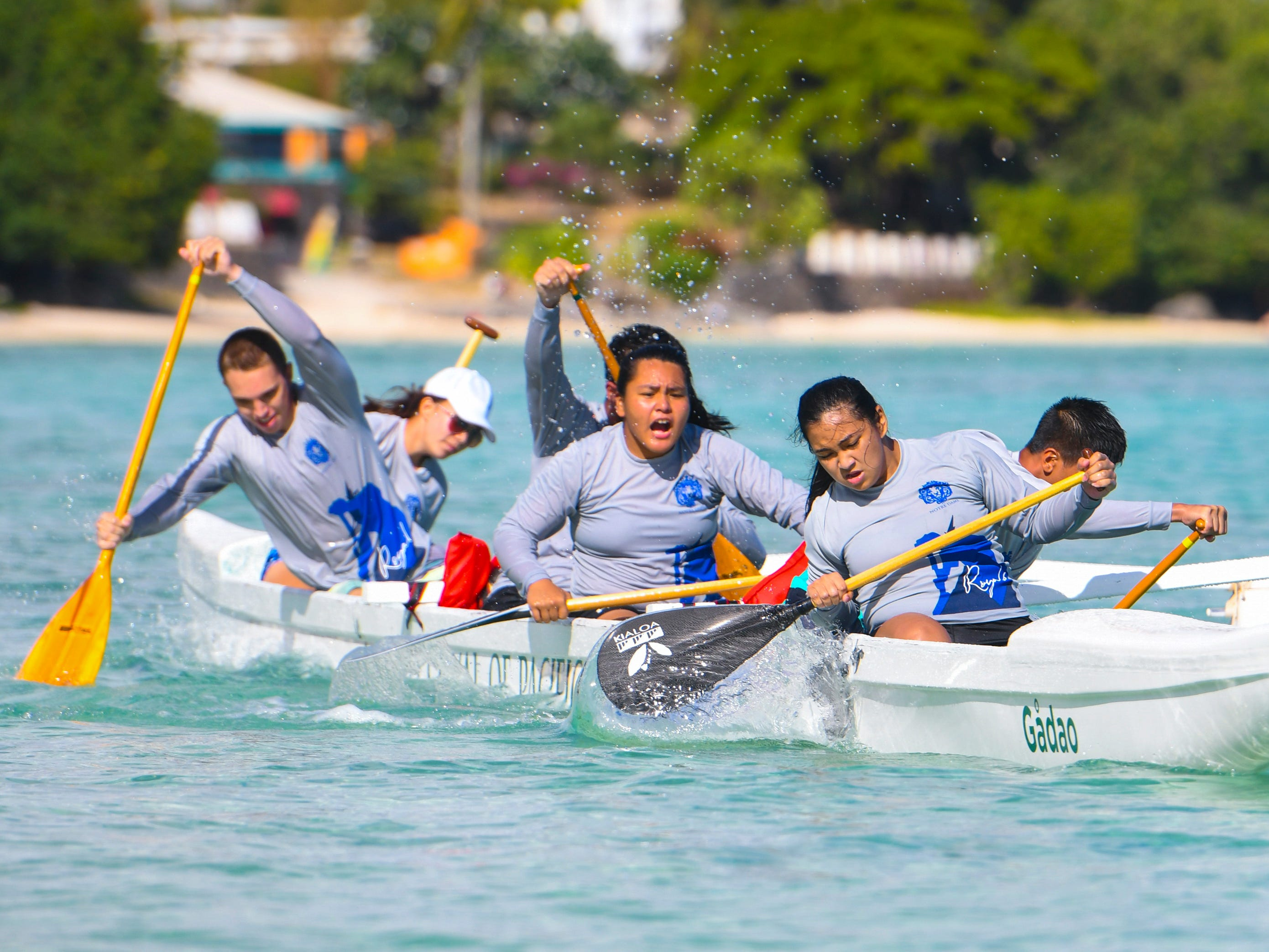 Preliminary and final IIAAG Paddling competition races were held for island high schools in the waters off Matapang Beach in Tumon on Saturday, May 11, 2019.