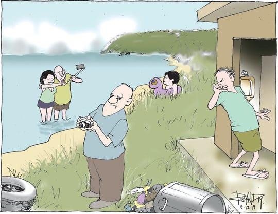 Sunday cartoon on tourism.