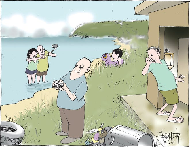 Sunday cartoon on tourism.