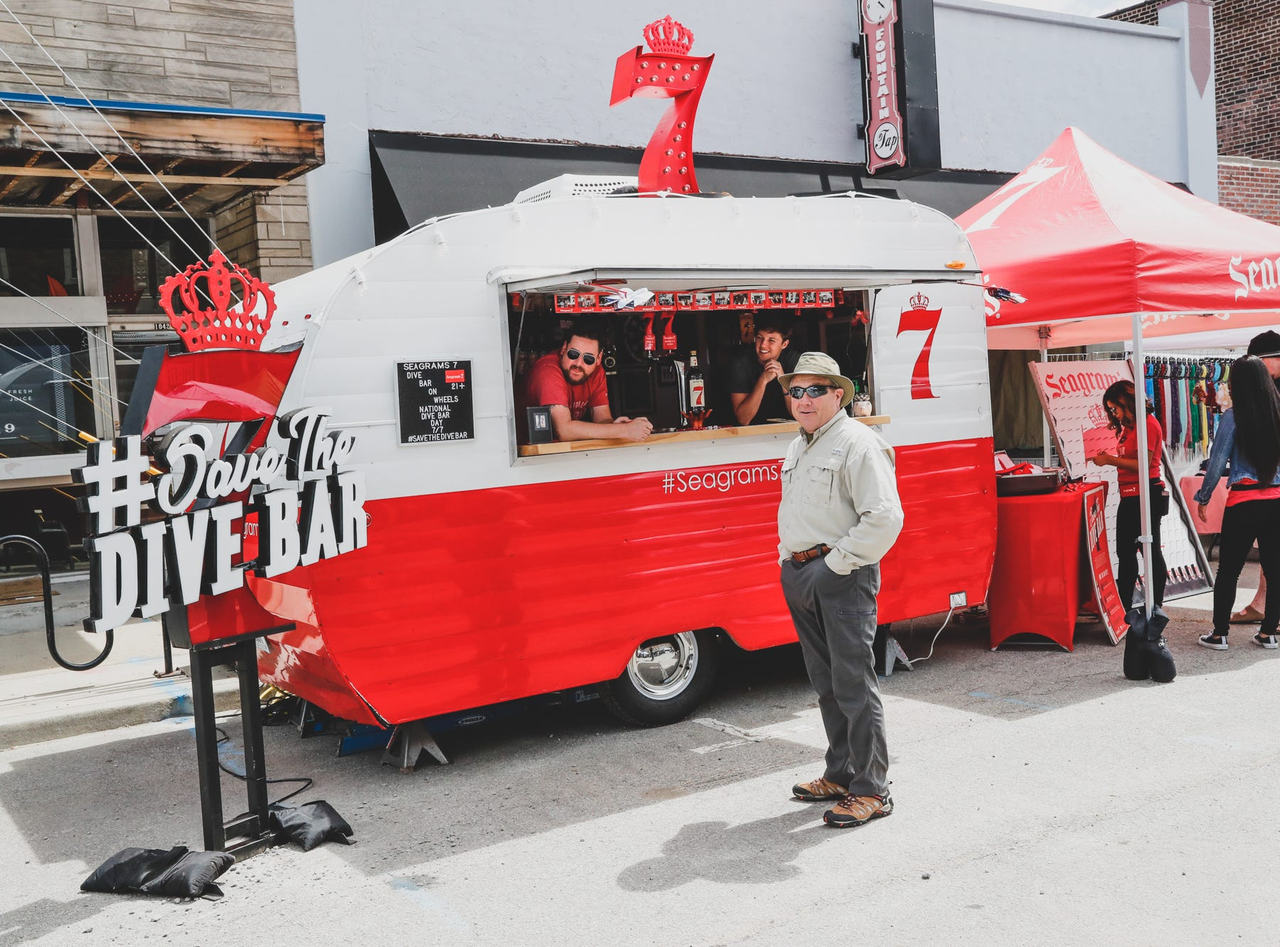 A megrims & drink truck sets up for the Virginia Avenue Music Fest, held in Fountain Square, located in Indianapolis, on Saturday, May 11, 2019.