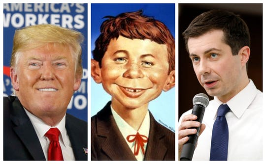 Donald Trump compared Pete Buttigieg to Mad Magazine cartoon character Alfred E. Neuman.