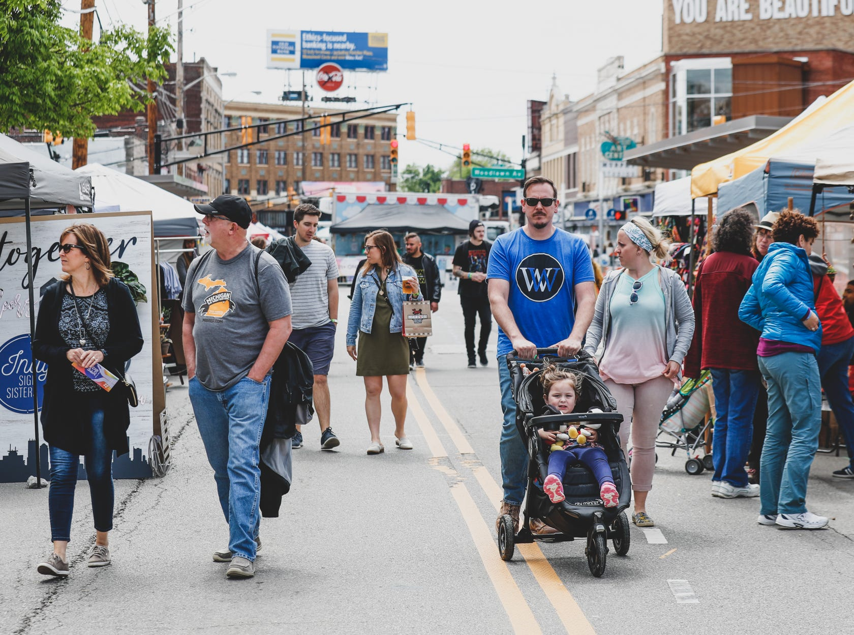 Festival-goers during the Virginia Avenue Music Fest, held in Fountain Square, located in Indianapolis, on Saturday, May 11, 2019.