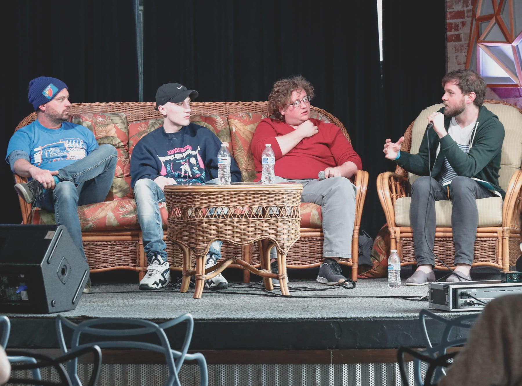 "Panel members gathered at Pioneer for the ""More To Do In Your Mom's Basement"" music forum, during the Virginia Avenue Music Fest, held in Fountain Square, located in Indianapolis, on Saturday, May 11, 2019."