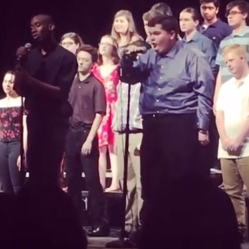 Harrison student with autism goes viral after joyous star turn on stage