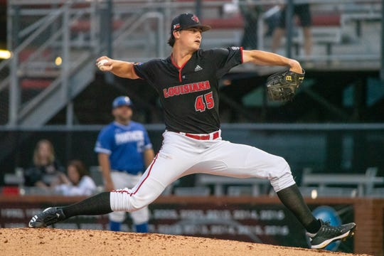 Jack Burk threw 5.0 shutout innings for UL in a 2-0 win over Georgia State before exiting with a tight elbow.