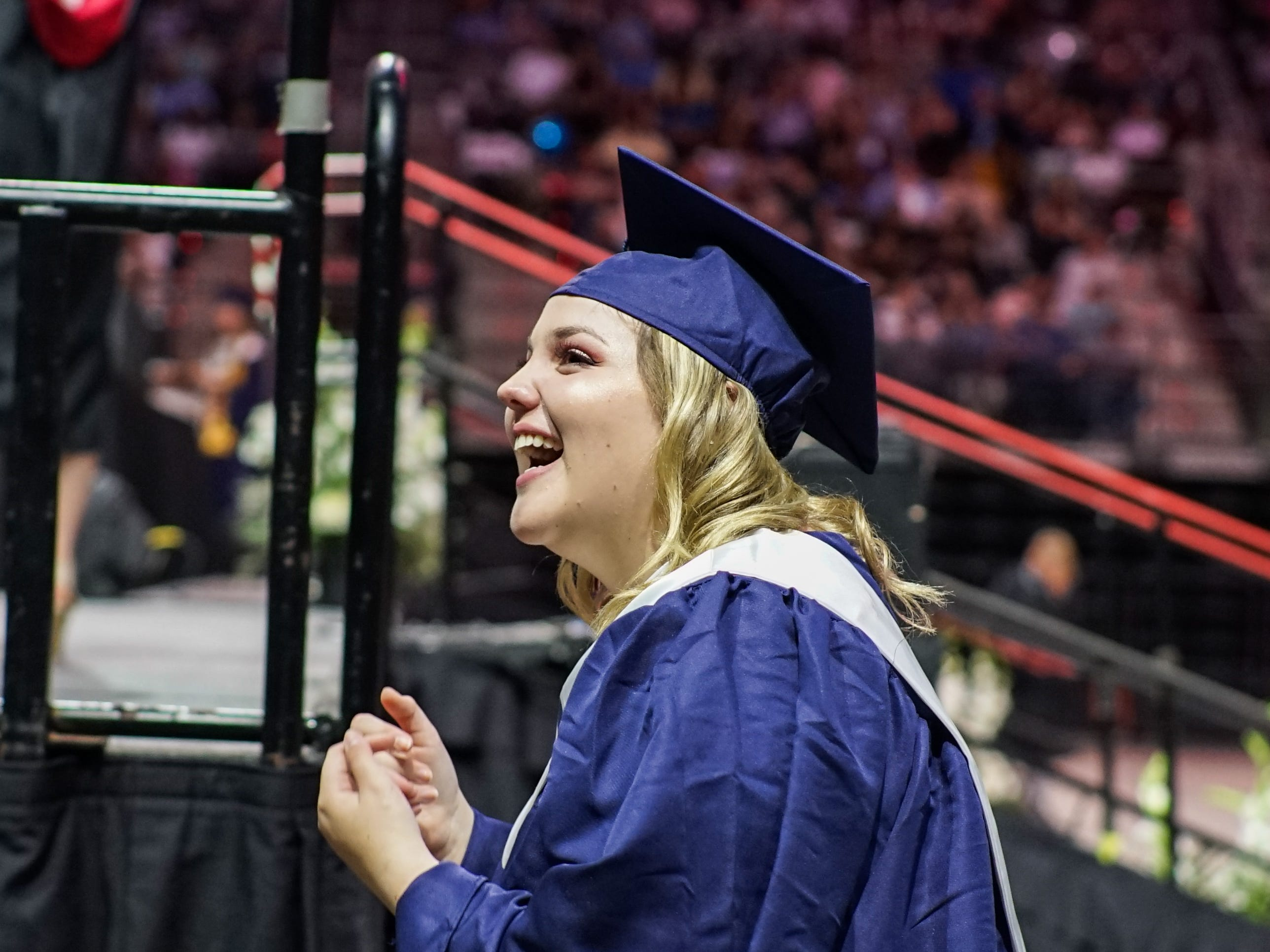 Comeaux High School holds its graduation ceremony Saturday at the Cajundome in Lafayette.