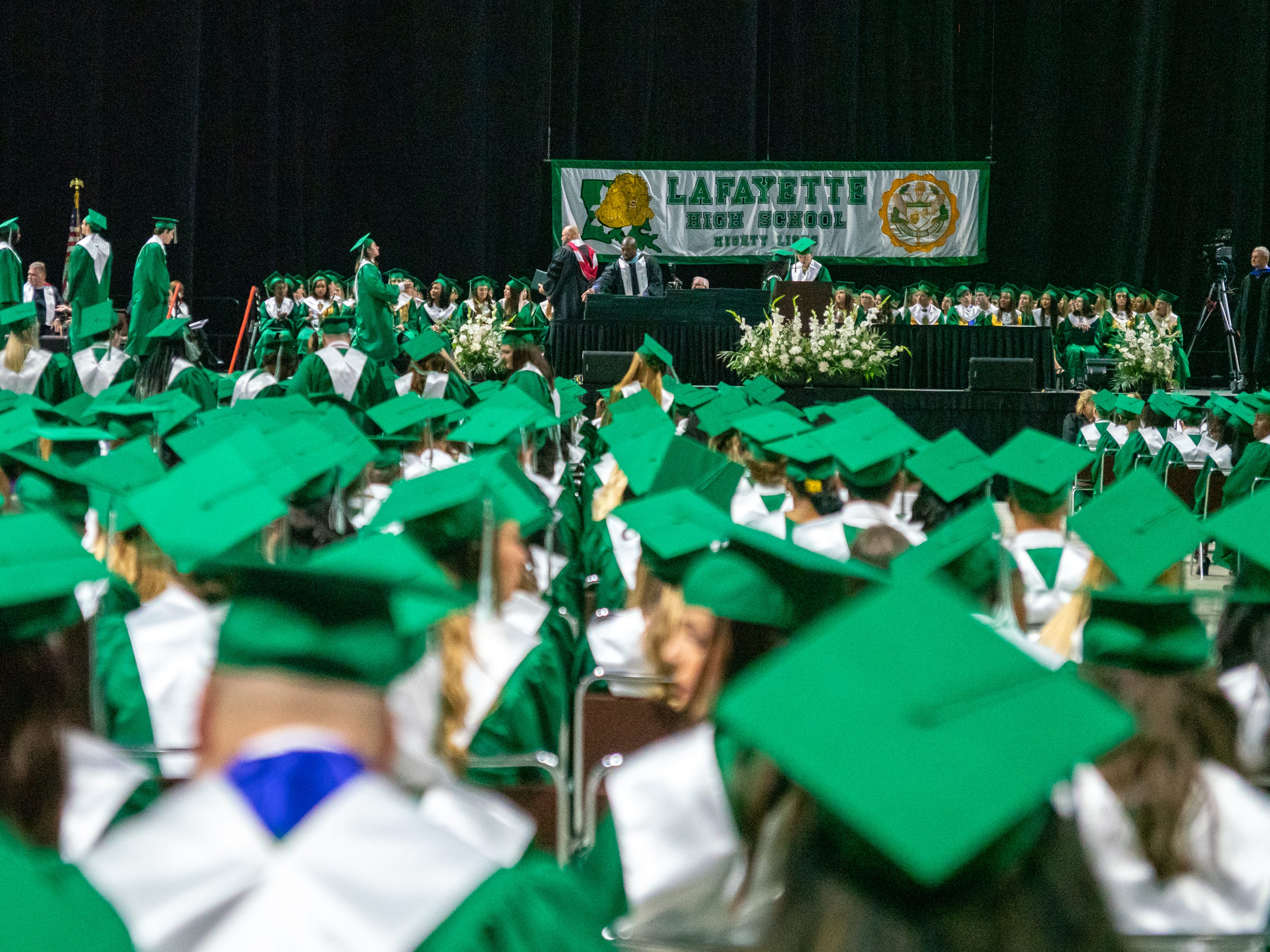 Lafayette High School holds its graduation ceremony at the Cajundome on Saturday, May 11, 2019.