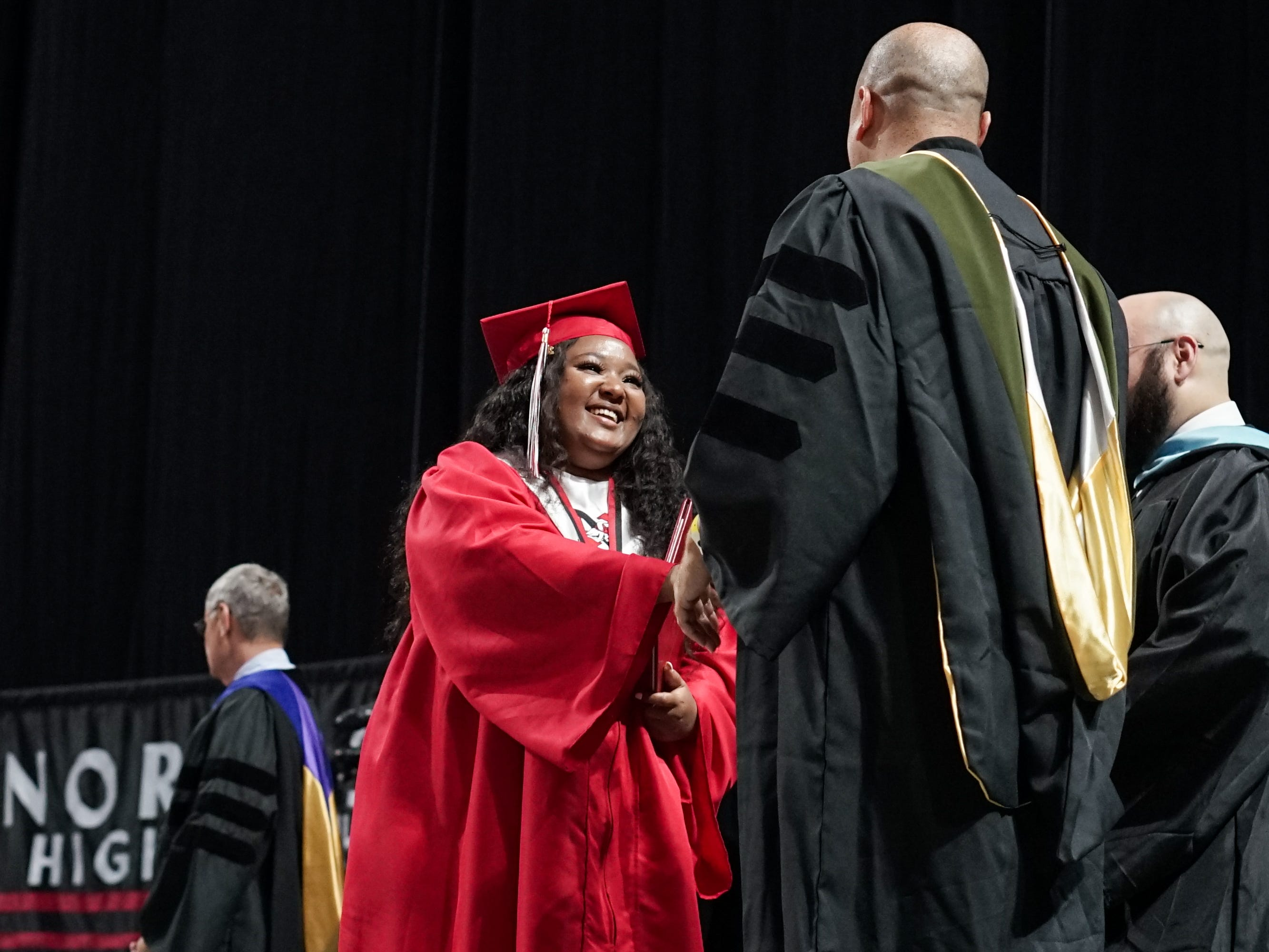 Northside High School holds its graduation ceremony at the Cajundome in Lafayette Friday, May 10, 2019.