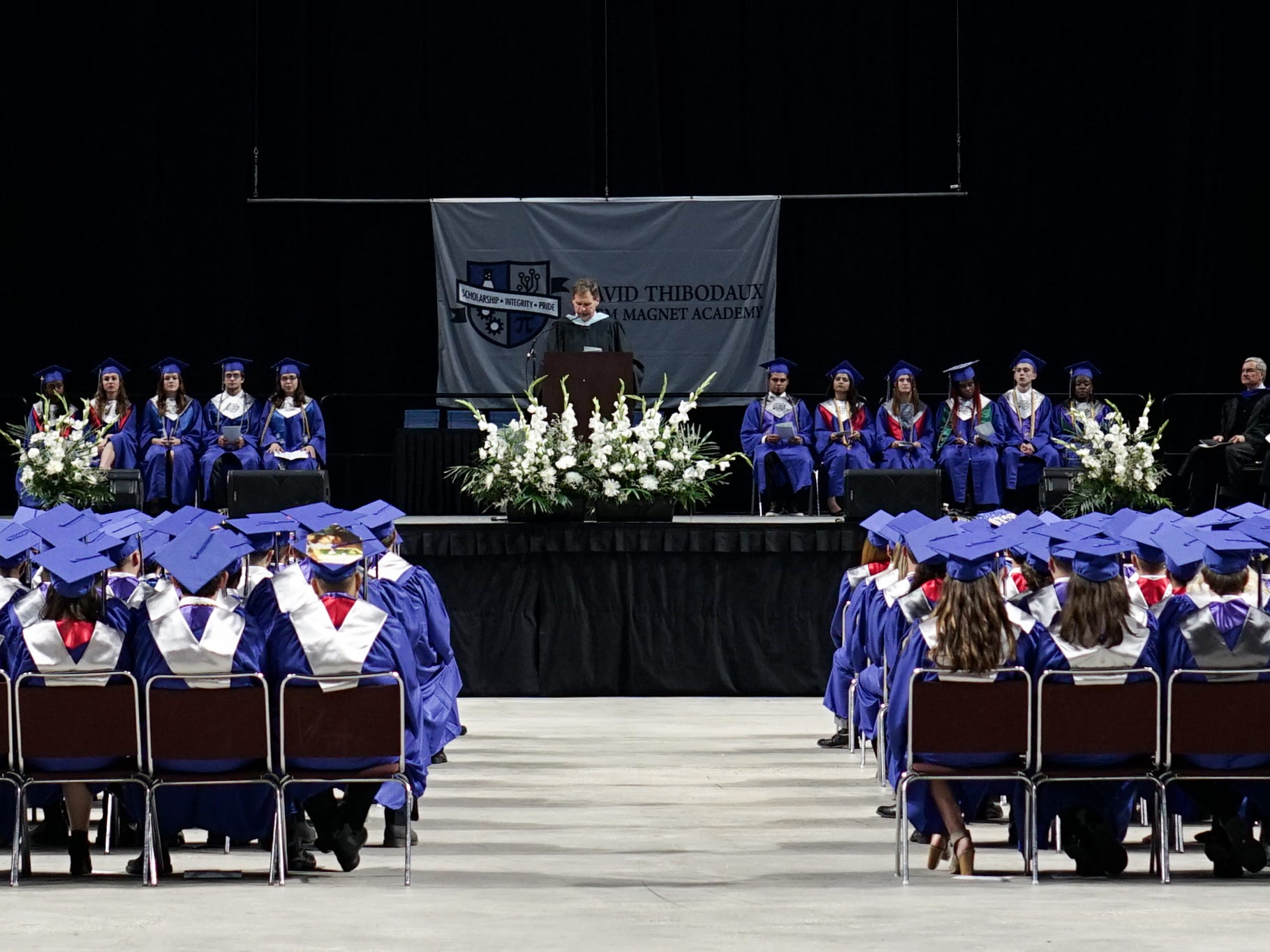 David Thibodaux STEM Magnet Academy holds its graduation ceremonies at the Cajundome in Lafayette Friday, May 10, 2019.