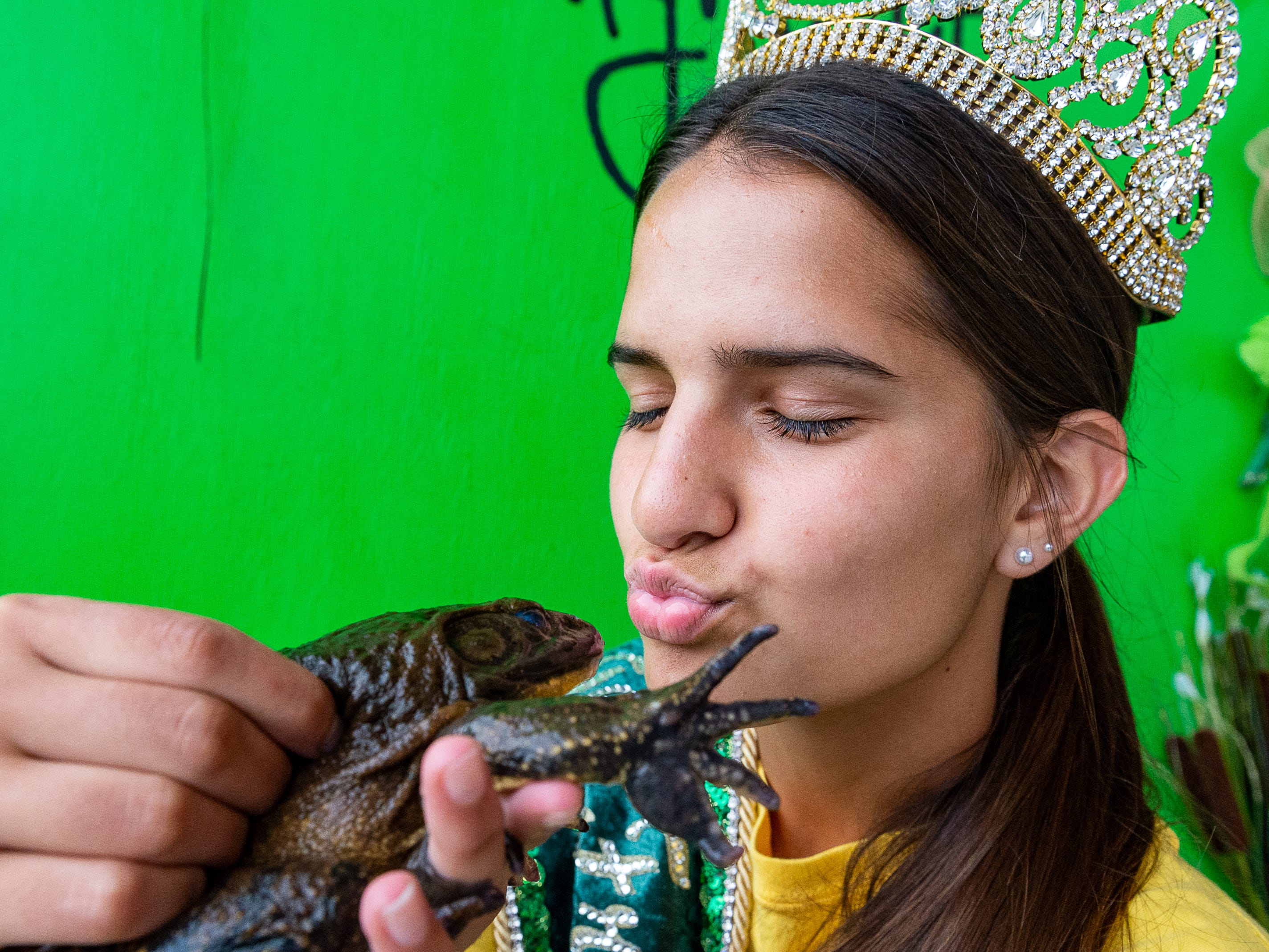 Teen Frog Festival Queen Janci Aube' at The Rayne Frog Festival features music, food and events. Friday, May 10, 2019.