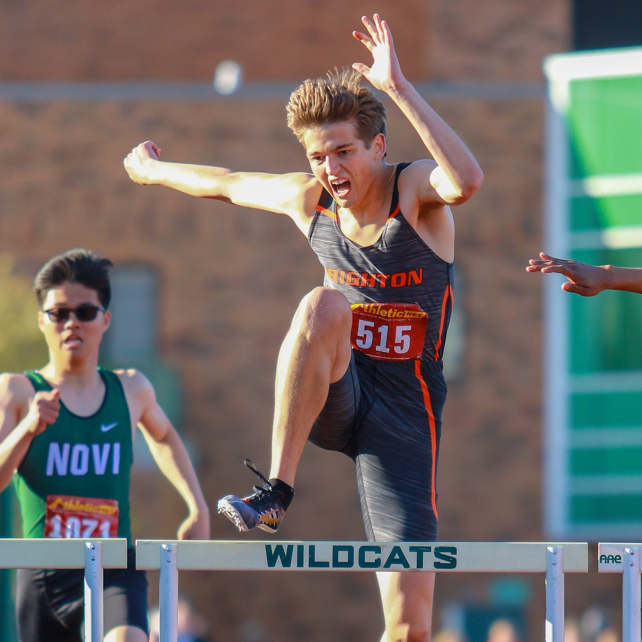 Left off relay last year, Brenden Edoff finishes off Brighton's KLAA track championship
