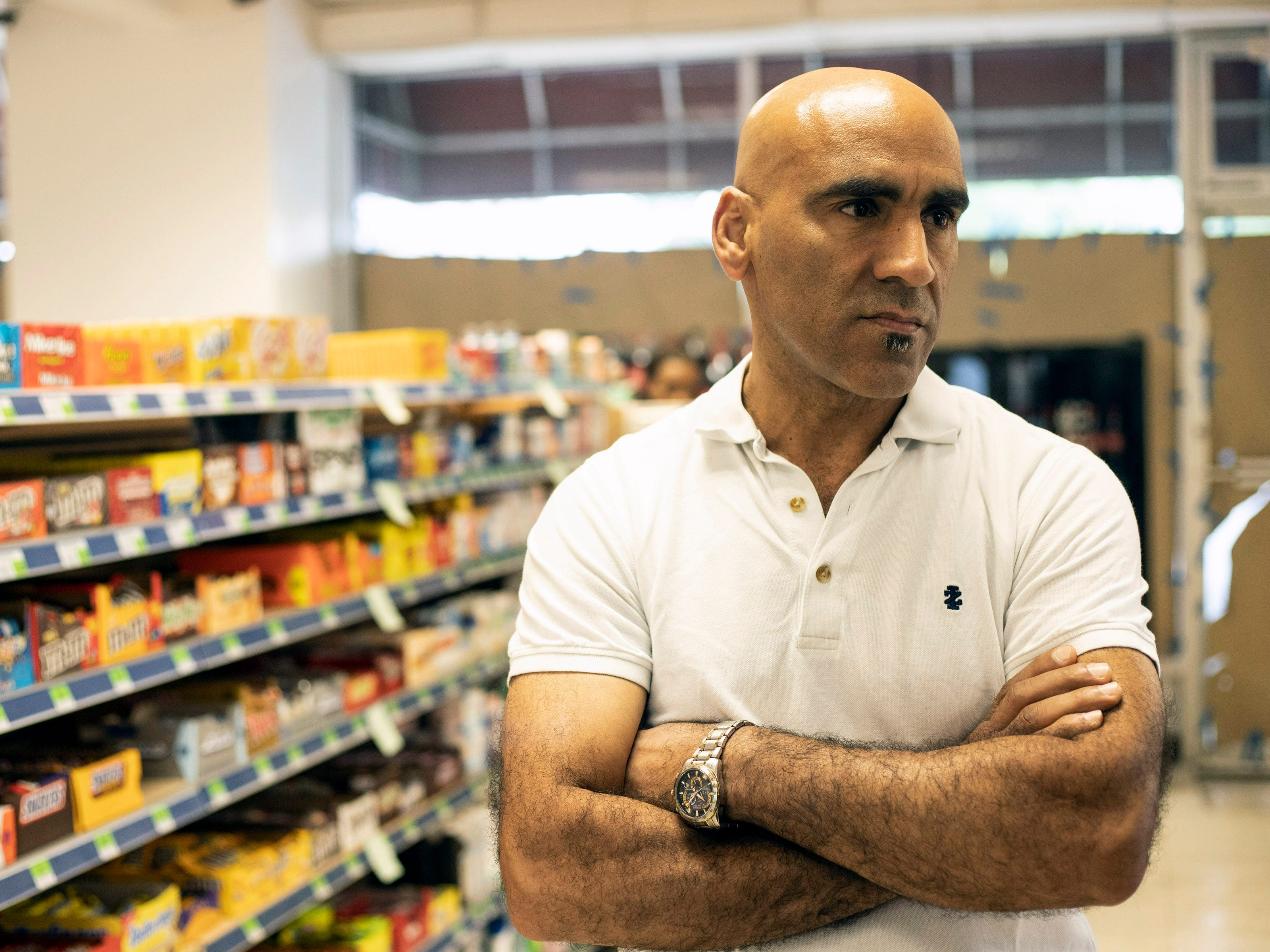 Owner Abdul Alshawi is ready to open the Superior Market & Deli at Third & Broadway after lengthy renovations to the 5,400-square-foot space in the century old Fincastle Building. 5/10/19
