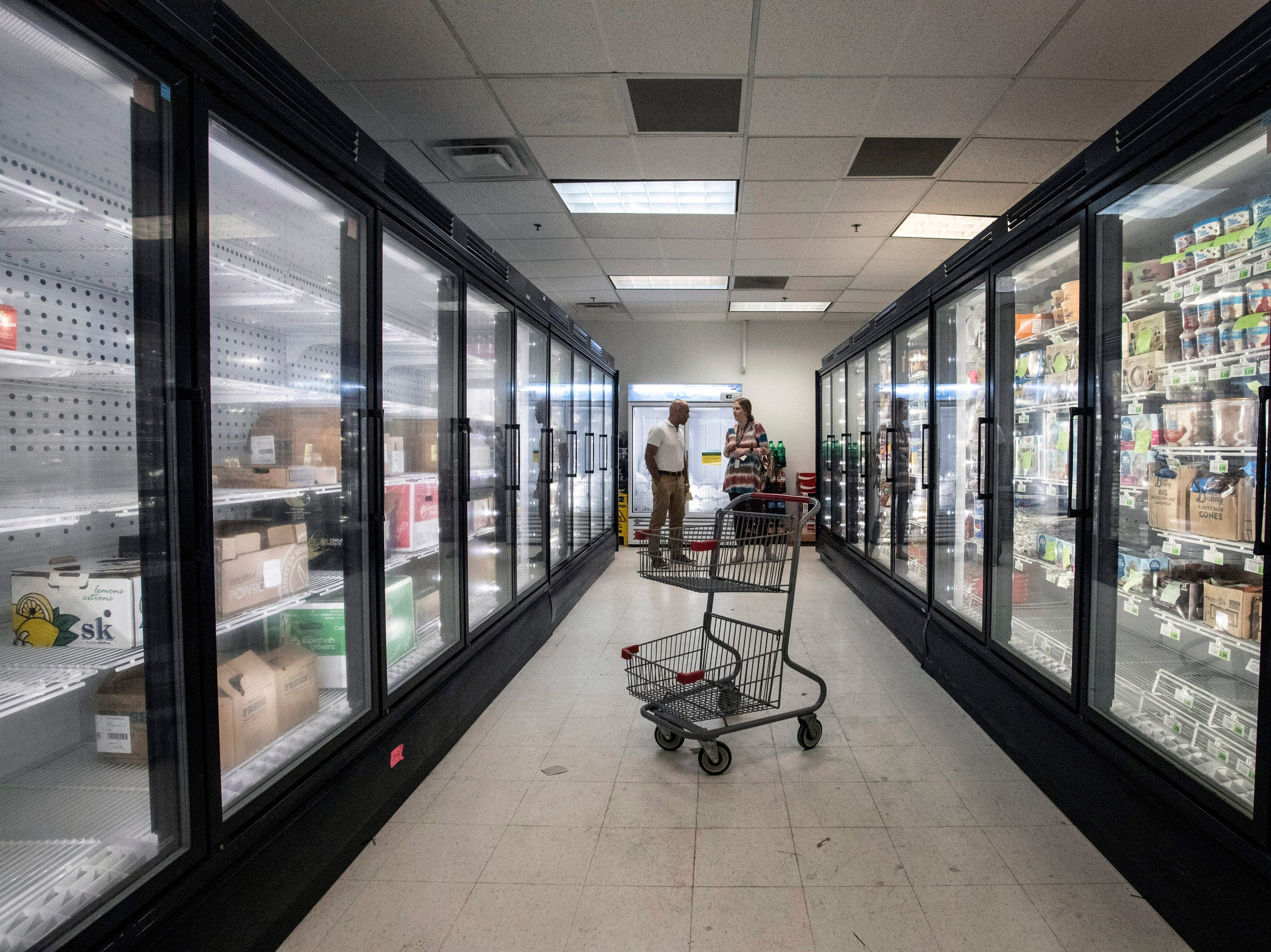 Refrigerators were in the process of being stocked on Friday morning as the new Superior Market & Deli prepared to open in the Fincastle Building at Third & Broadway. 5/10/19