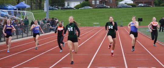 Madison sophomore Taylor Huff was voted OCC Female Runner of the Year after sweeping the sprints.