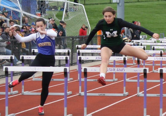 Madison sophomore Kari Eckenwiler was voted OCC Female Combined Track and Field Athlete of the Year after sweeping the hurdles and winning the long jump.