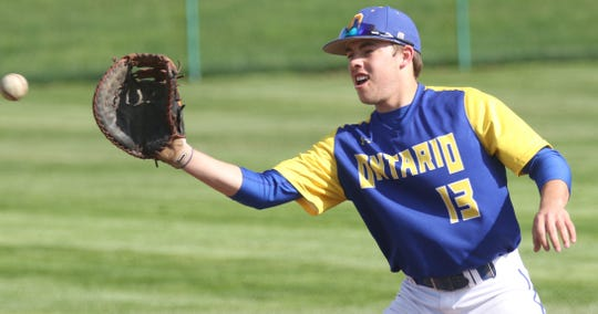 Ontario's Caden Armstrong ripped the game-winning, walk-off, RBI single in the eighth inning to help the Warriors earn a share of the MOAC title on Saturday.