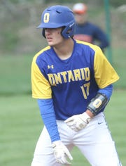 Ontario senior Sam Sayre is looking to end his high school baseball career on a high note.