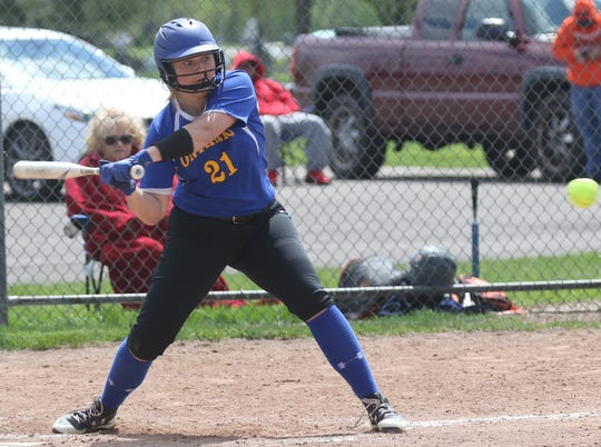 Ontario's Halle Ciroli drilled two home runs in a loss to Galion on Saturday.