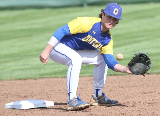 Ontario's Avery Fisher helped the Warriors clinch a share of the Mid-Ohio Athletic Conference championship and finishing No. 3 in the Richland County Baseball Power Poll.