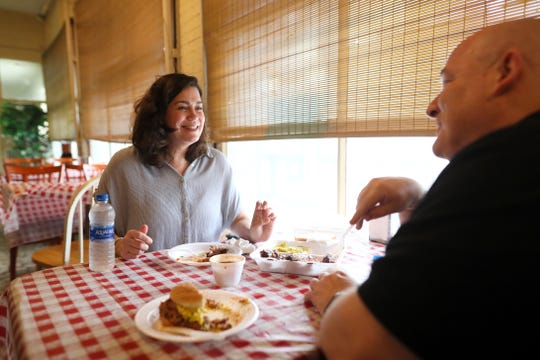 Gannett food writers Brad Schmitt of The Tennessean and Jennifer Chandler of The Commercial Appeal hit Payne's Bar-B-Q during a tour of Memphis barbecue on Friday, May 10, 2019.
