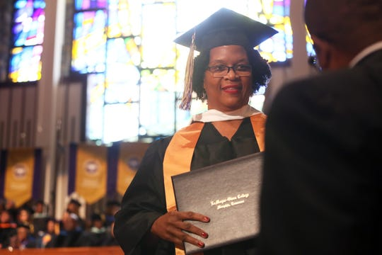 LeMoyne-Owen celebrates their spring graduation commencement at Mt. Vernon Baptist Church-Westwood on Saturday, May 11, 2019.