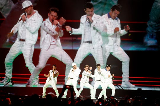 Scenes from the New Kids On The Block concert at the FedExForum Friday, May 10, 2019.