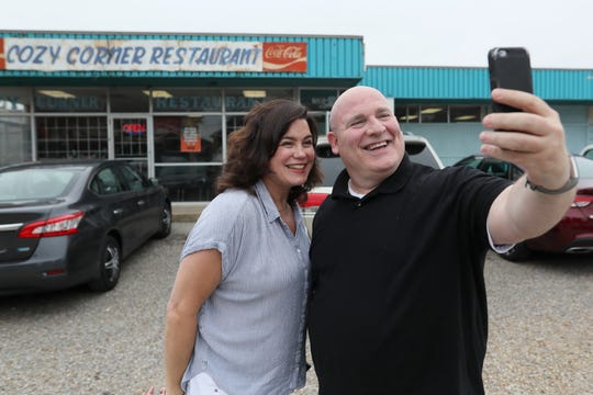 Food writers Jennifer Chandler of The Commercial Appeal and Brad Schmitt of The Tennessean hit Cozy Corner during a tour of Memphis barbecue joints Friday, May 10, 2019.