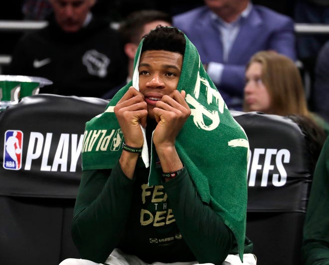 Giannis Antetokounmpo will have gone a week between games when the Bucks' playoff run resumes with the Eastern Conference finals.