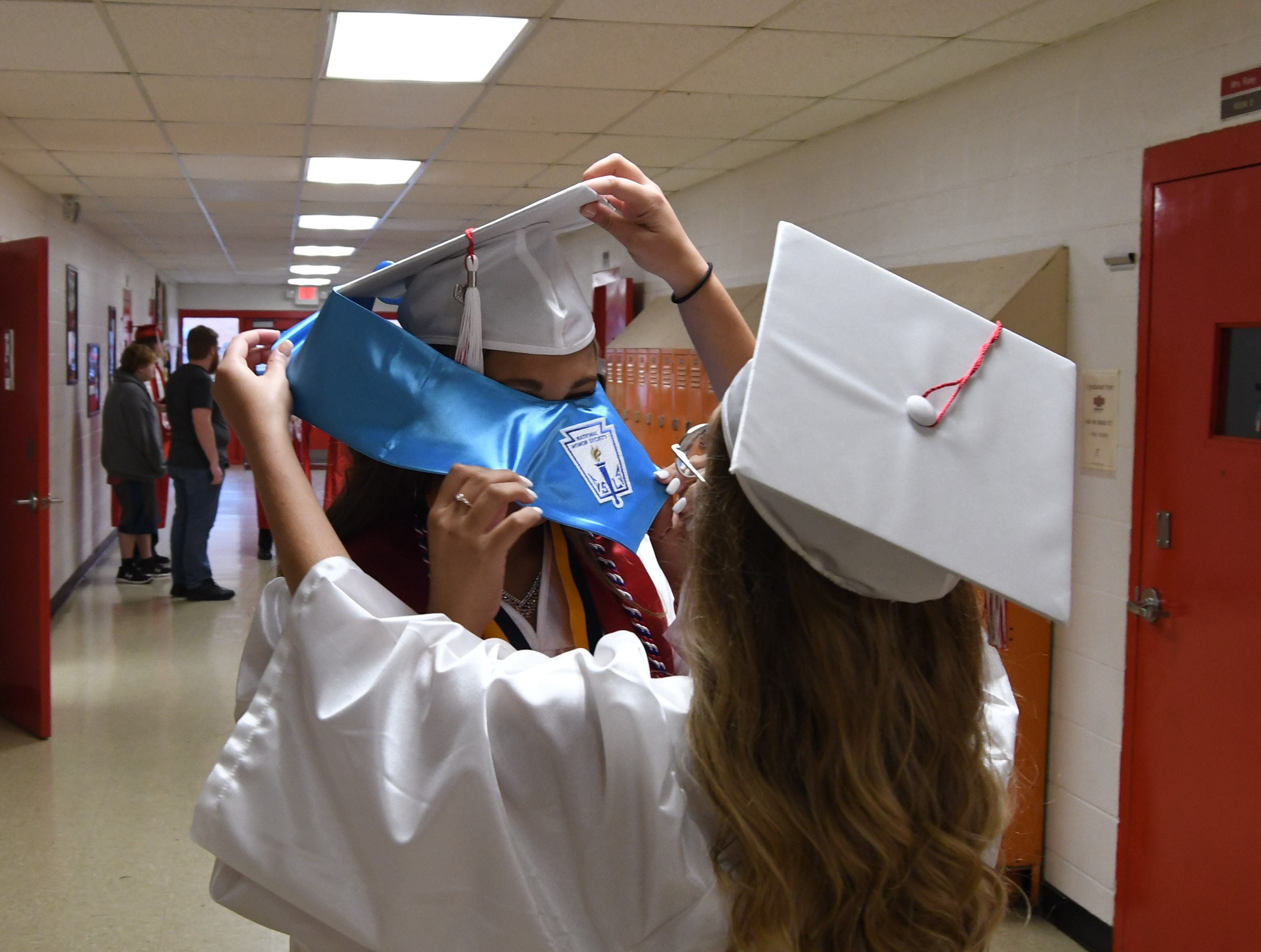 An image from Flippin's Class of 2019 graduation ceremony Friday night.