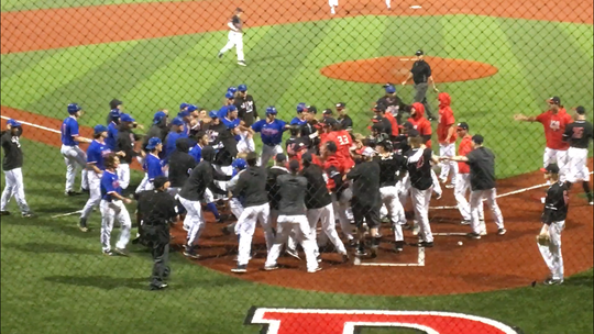 Louisiana Tech and Western Kentucky had a bench-clearing brawl immediately following their game Friday night at Ruston High School's baseball field.