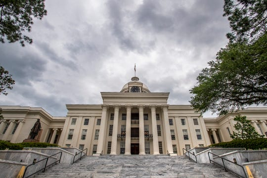 The Alabama State Capitol Building in Montgomery, Ala., on Friday May 10, 2019.