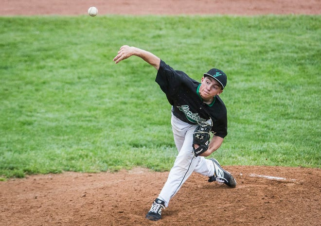 FILE -- Yorktown's Robby Hook tossed a complete-game shutout against Blackford on Wednesday.