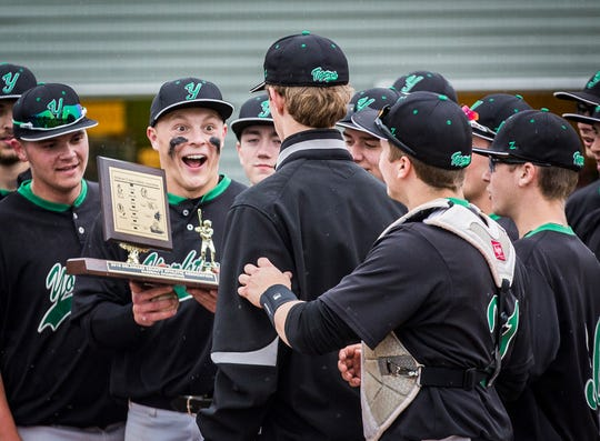 Yorktown defeated Daleville 4-3 in their county championship game at Yorktown High School Saturday, May 11, 2019.